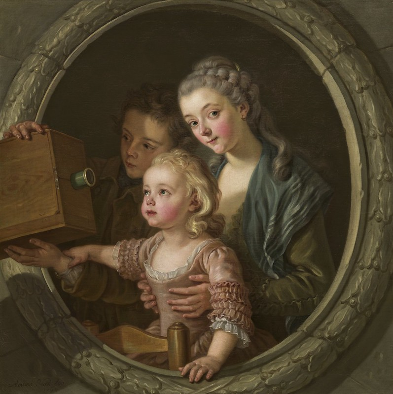 Charles-Amédée-Philippe van Loo - The Camera Obscura