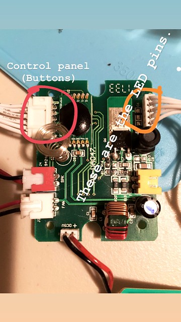 LED-pins-control-buttions