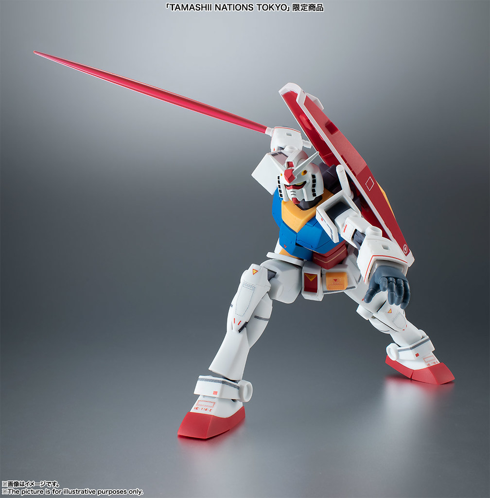 ROBOT魂《機動戰士鋼彈》「RX-78-2 鋼彈」、「MS-06 量產型薩克」 ver. A.N.I.M.E. ~REAL MARKING~【TAMASHII NATIONS TOKYO限定】