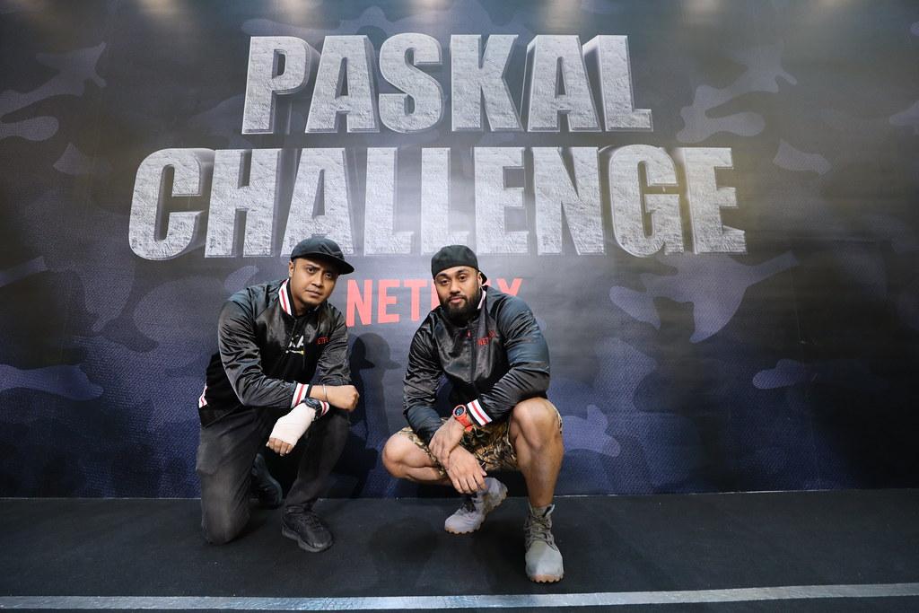 PASKAL stars, Ammar Alfian and Taufiq Hanafi at the Netflix #PaskalChallenge even