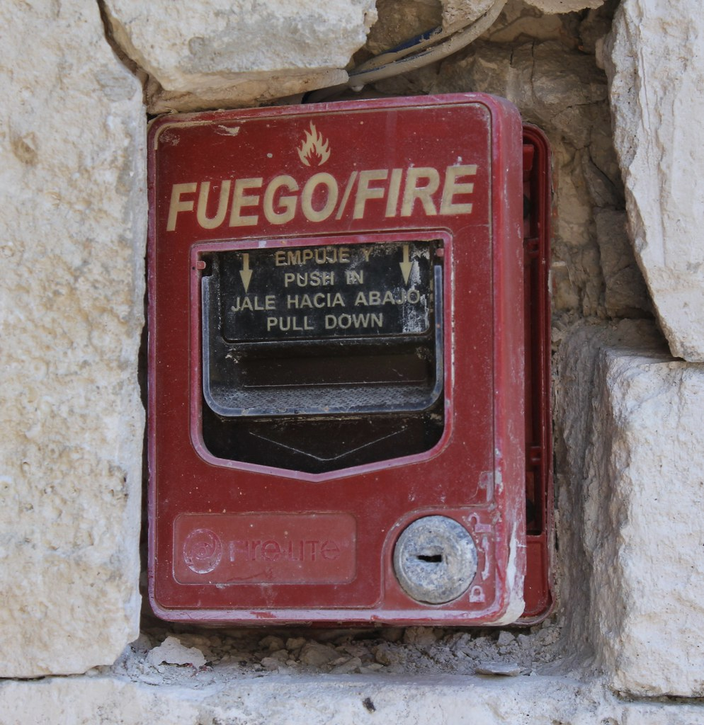 Fire-Lite BG-12LSP Fire Alarm Pull Station | Rough-looking F… | Flickr