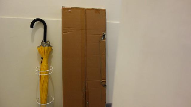 靠牆放大概比雨傘王的直傘長不了多少@立格扉星空衣帽架
