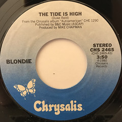 BLONDIE:THE TIDE IS HIGH(LABEL SIDE-A)