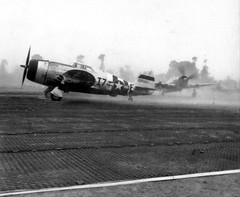 48th Fighter Group P-47Ds taking off at Deux Jumeaux Airfield - Photo of Colombières