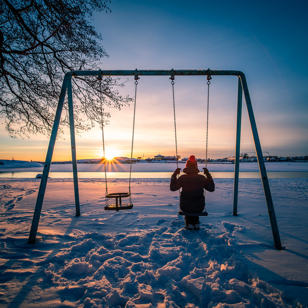 Cold sunset, Helsinki, Finland picture