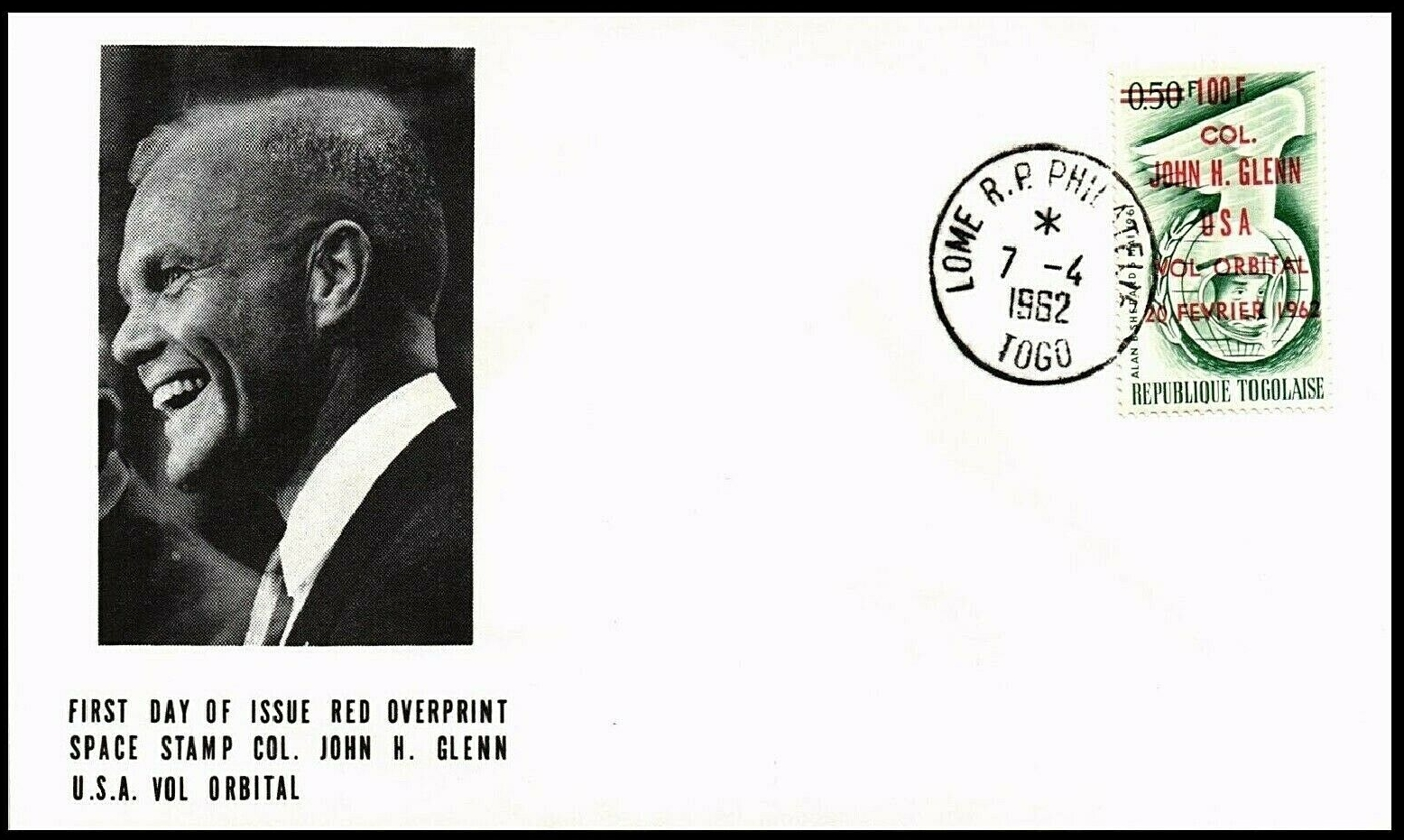 Togo - Scott #471a (1962) first day cover