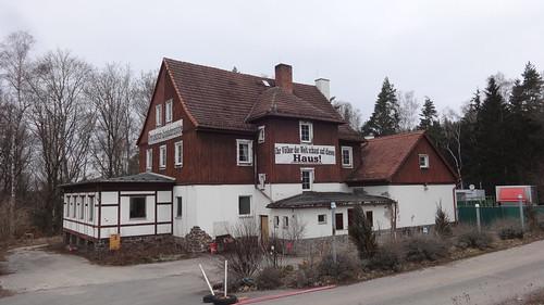 1936 Triptis Autobahnraststätte Rodaborn in Heimatschutzstil Westfahrbahn RAB9 in 07819