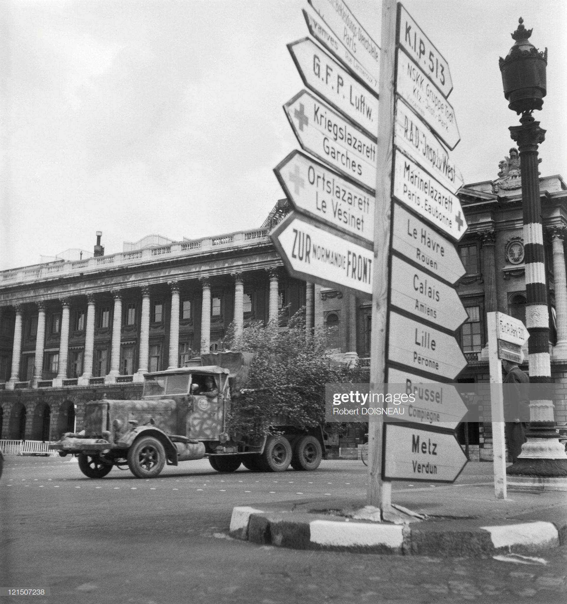 1943. Париж во время немецкой оккупации, Площадь Согласия