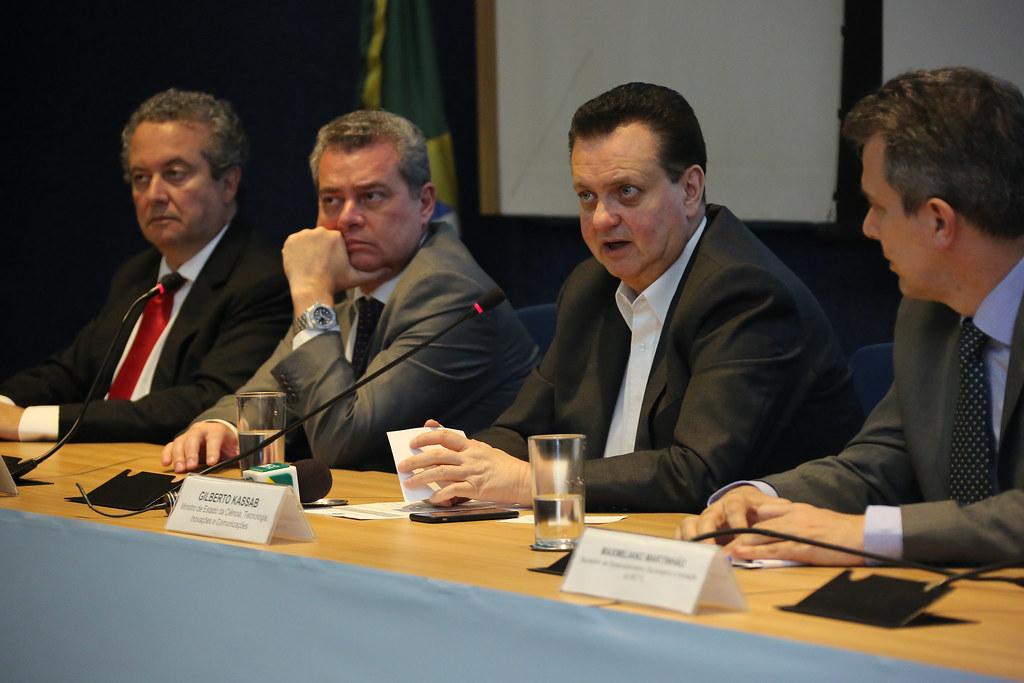 02/10/2018. Brasília-DF. Ministro Gilberto Kassab participa de cerimônia de lançamento do Plano de Ação de Tecnologias Convergentes e Habilitadoras e de abertura do 3º Workshop SisNANO. Foto: Ricardo Fonseca/MCTIC.