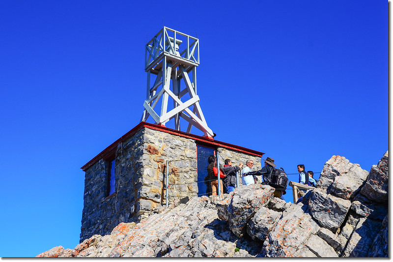 Meteorological observatory building on Sanson Peak