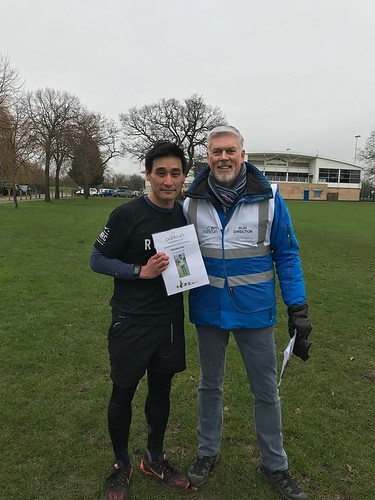 Nicholas Voo after his 100th parkrun