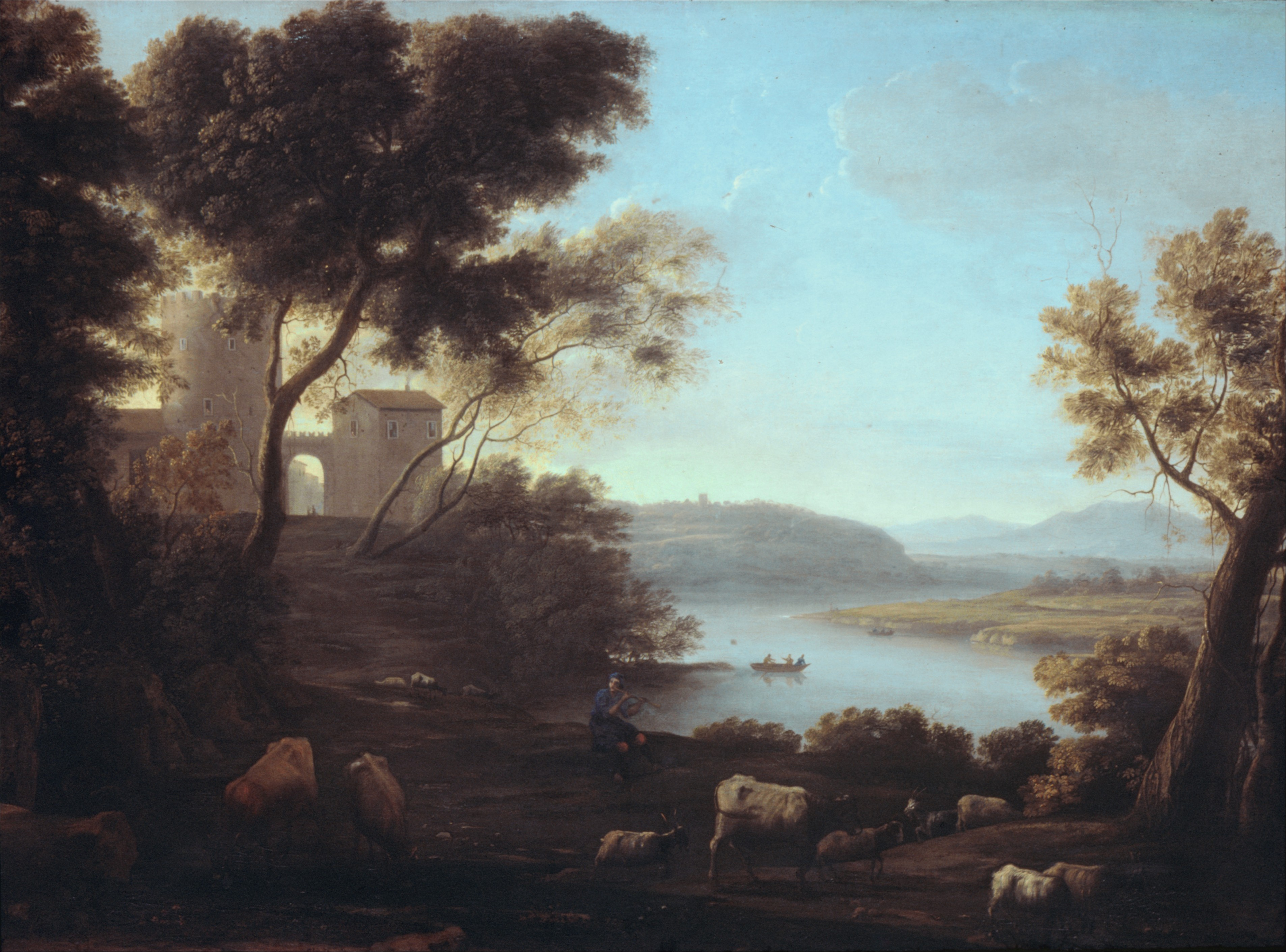 The Roman Campagna, oil on canvas, 1639. Currently in the collections of the Metropolitan Museum of Art (not on display).