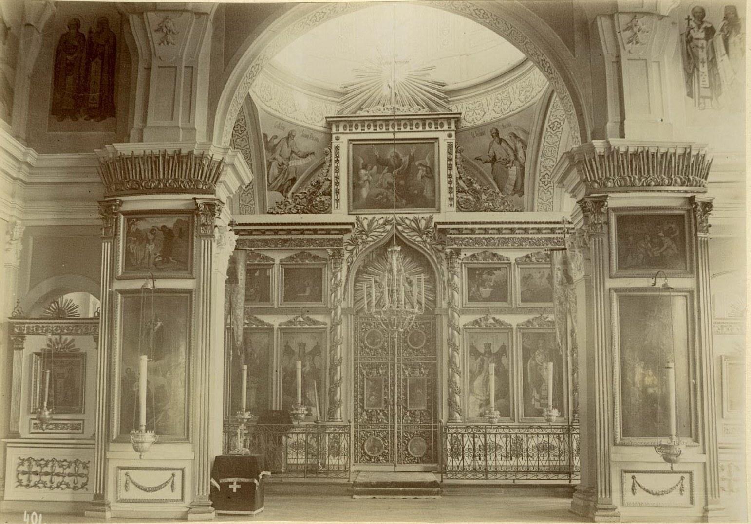 18. Феодоровская церковь, иконостас в верхнем храме св. Николая Чудотворца