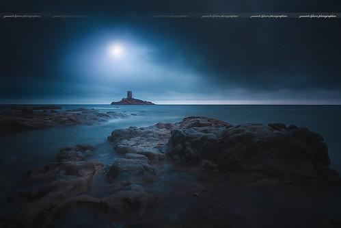 Moonlight above Golden Island ( Le Dramont / France )