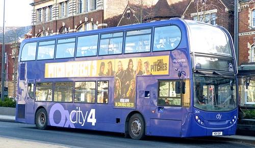HD11 OXF 'Oxford Bus Company' No. 304 'Oxcity 4'. Scania N230UD / 'ADL' Enviro 400  on Dennis Basford's railsroadsrunways.blogspot.co.uk'
