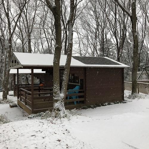 フォンテーヌの森、雪化粧