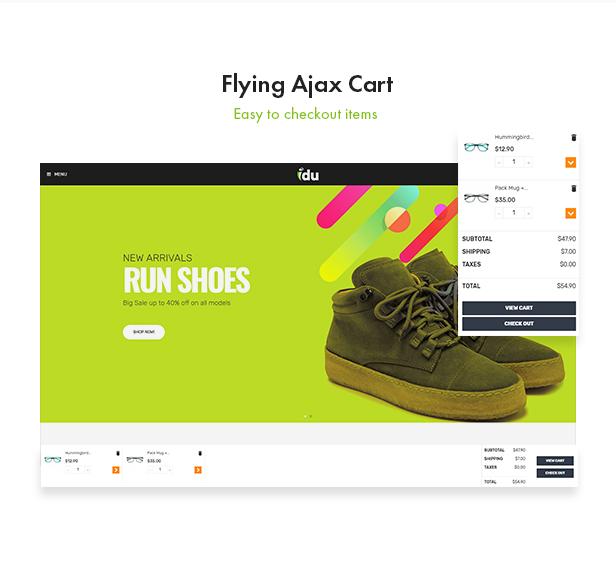 Bos Idu Prestashop Shoes Theme - Flying Ajax Cart