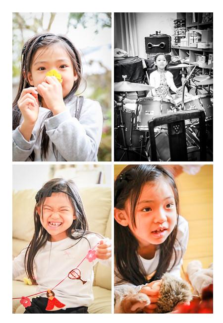 7歳の女の子 ドラム演奏