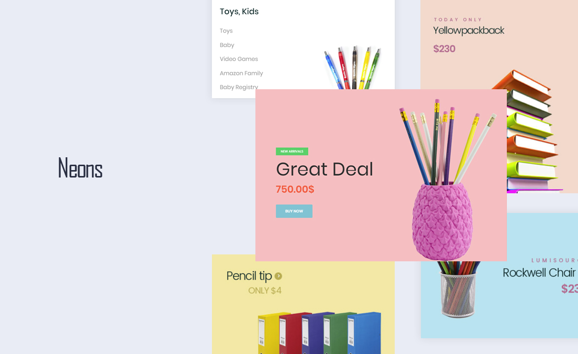 Leo Neons - Stationery Prestashop Theme