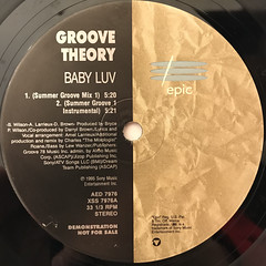 GROOVE THEORY:BABY LUV(LABEL SIDE-A)