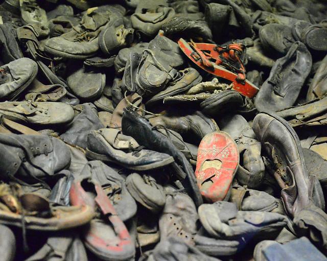 Montaña de zapatos de Auschwitz