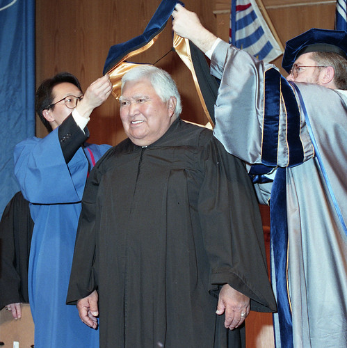 Robert (Bob) George receiving his honourary doctorate