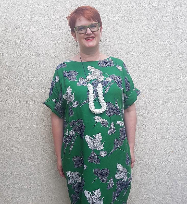 Style Arc Eme dress in linen blend from Darn Cheap Fabrics