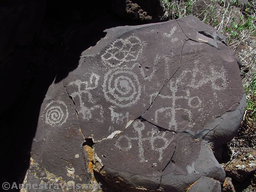 Some of the most famous petroglyphs at Nampaweap in Grand Canyon-Parashant National Monument, Arizona
