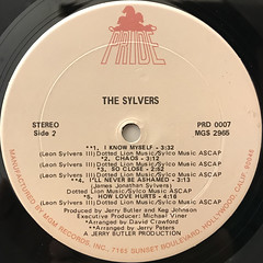 THE SYLVERS:THE SYLVERS(LABEL SIDE-B)
