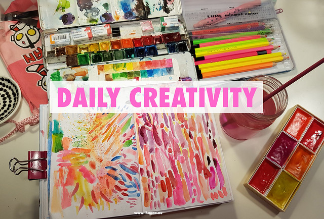 Daily (almost) Creativity in a little notebook by iHanna - see all time-lapse videos here #artjournaling