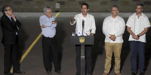 Não reconhecido pela maioria do povo venezuelano, Guaidó é mais famoso na Colômbia