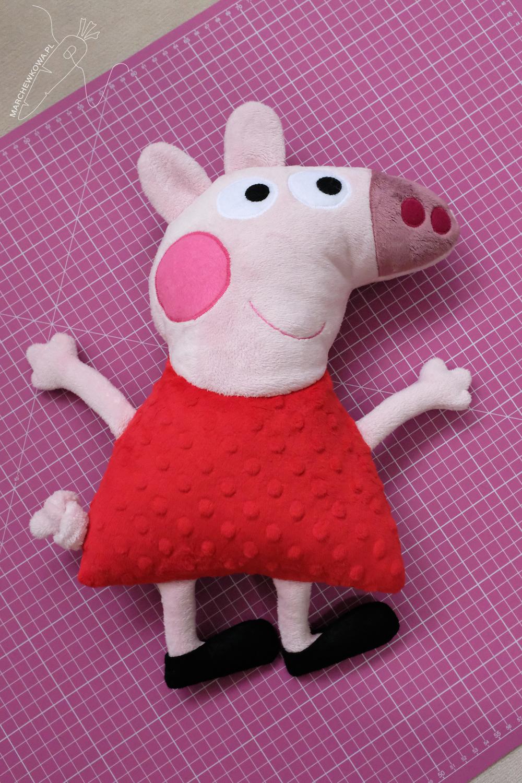 marchewkowa, blog, szycie, sewing, rękodzieło, handmade, Wrocław szyje, zabawki, toys, dla dzieci, for kids, Peppa Pig, świnka, minky, plusz