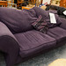 3 seater plum fabric sofa E135