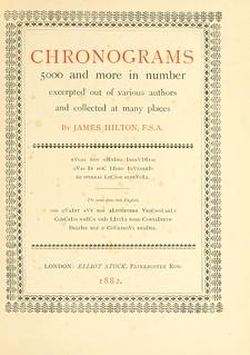 chronograms book cover