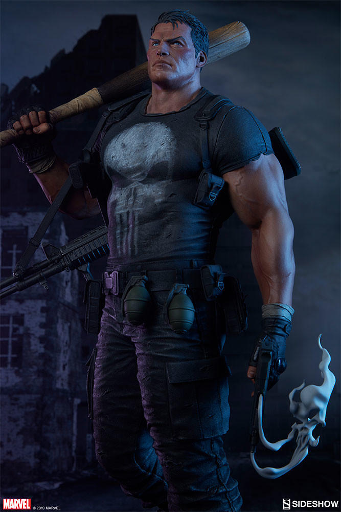 惡棍們塊陶啊~ Sideshow Collectibles Premium Format Figure 系列 Marvel Comics【制裁者】The Punisher 1/4 比例全身雕像作品 普通版/EX版