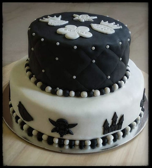 Eggless Chocolate Cake with Chocolate Mousse Filling and Fondant Accents by Sarika Singh