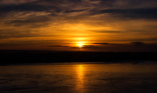 Sunset over The River, RICOH PENTAX K-3, Sigma 17-70mm F2.8-4.0 DC Macro OS HSM