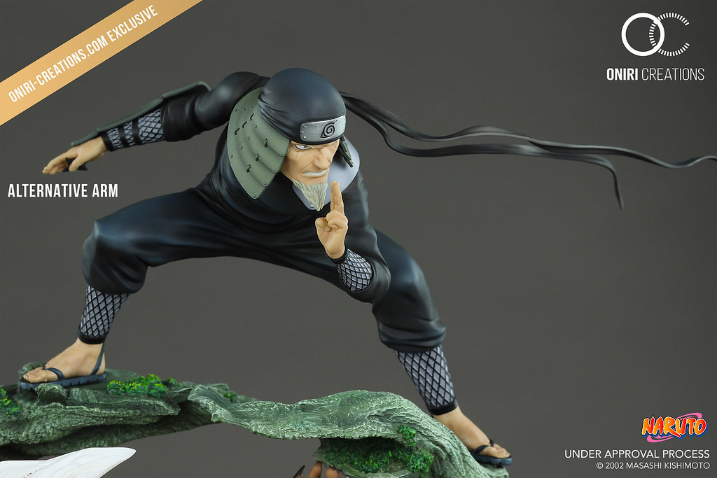 為了村子,背水一戰!! Oniri Creations《火影忍者疾風傳》三代目火影 – 最後的戰鬥 Sandaime Hokage – The Last Fight 1/6 比例全身場景雕像作品