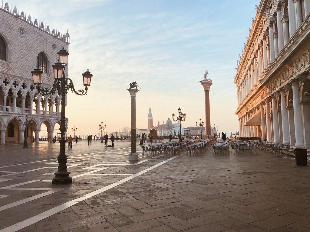 Венеция площадь Сан-Марко на рассвете