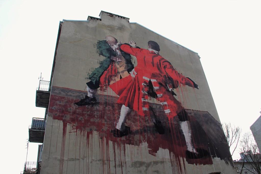 Warsaw Fight Club by Conor Harrington | 2015 Street Art Doping Festival, Warsaw