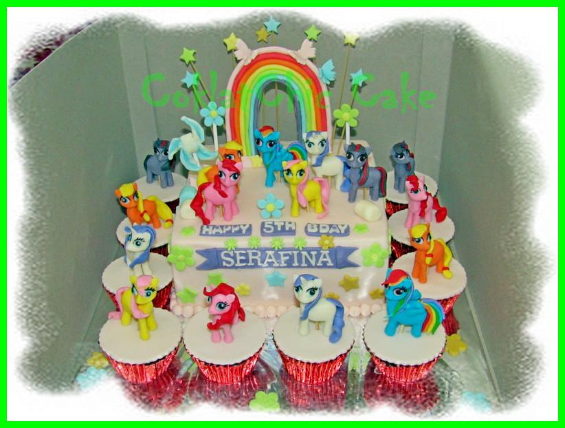 Cake dan Cupcake My Little Pony SERAFINA 20 cm