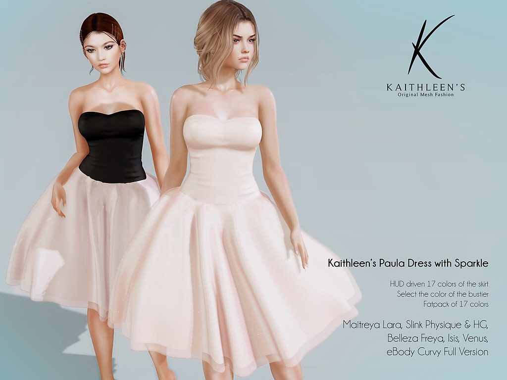 Kaithleen's Paula Dress with Sparkle - TeleportHub.com Live!