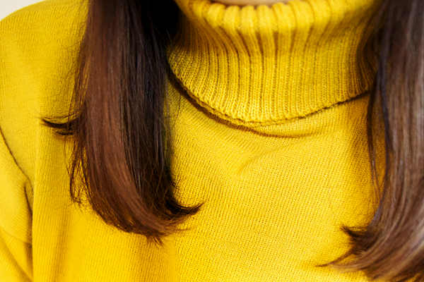 Femme Luxe Mustard Extreme Polo Neck Oversized Jumper