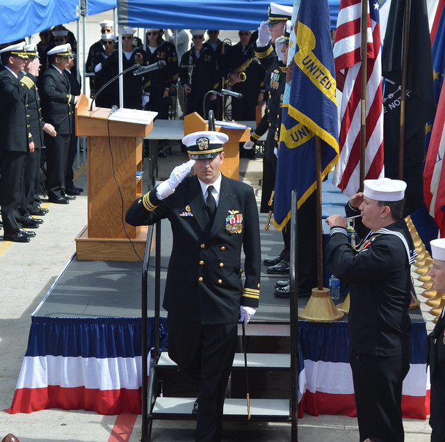 SAN DIEGO  – The Avenger-class mine countermeasures ship USS Scout (MCM 8) conducted a change of command ceremony at Naval Base San Diego, March 8.