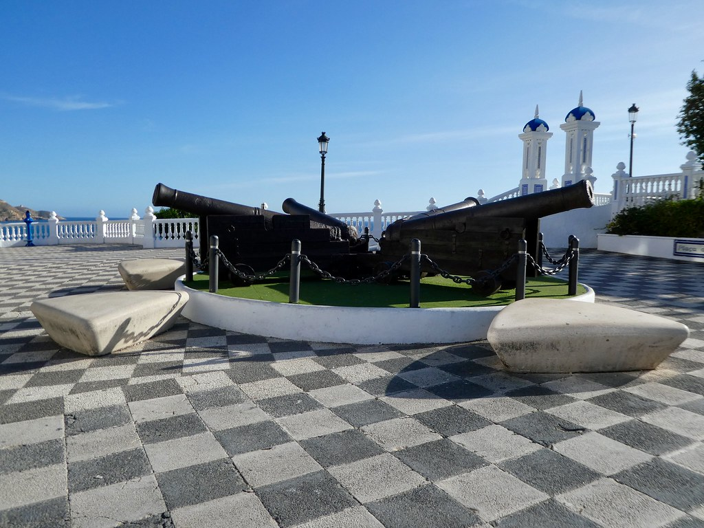 The four cannons at Plaza de Santa Ana, Benidorm