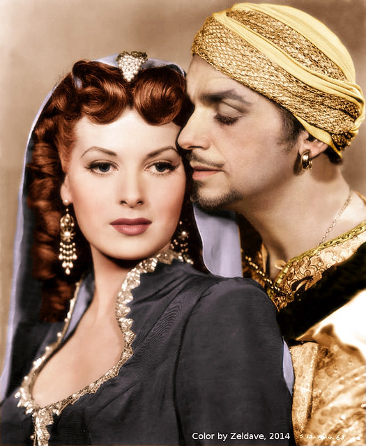 Sinbad, The Sailor - Promo Photo 4 - Maureen O` Hara & Douglas Fairbanks Jr.
