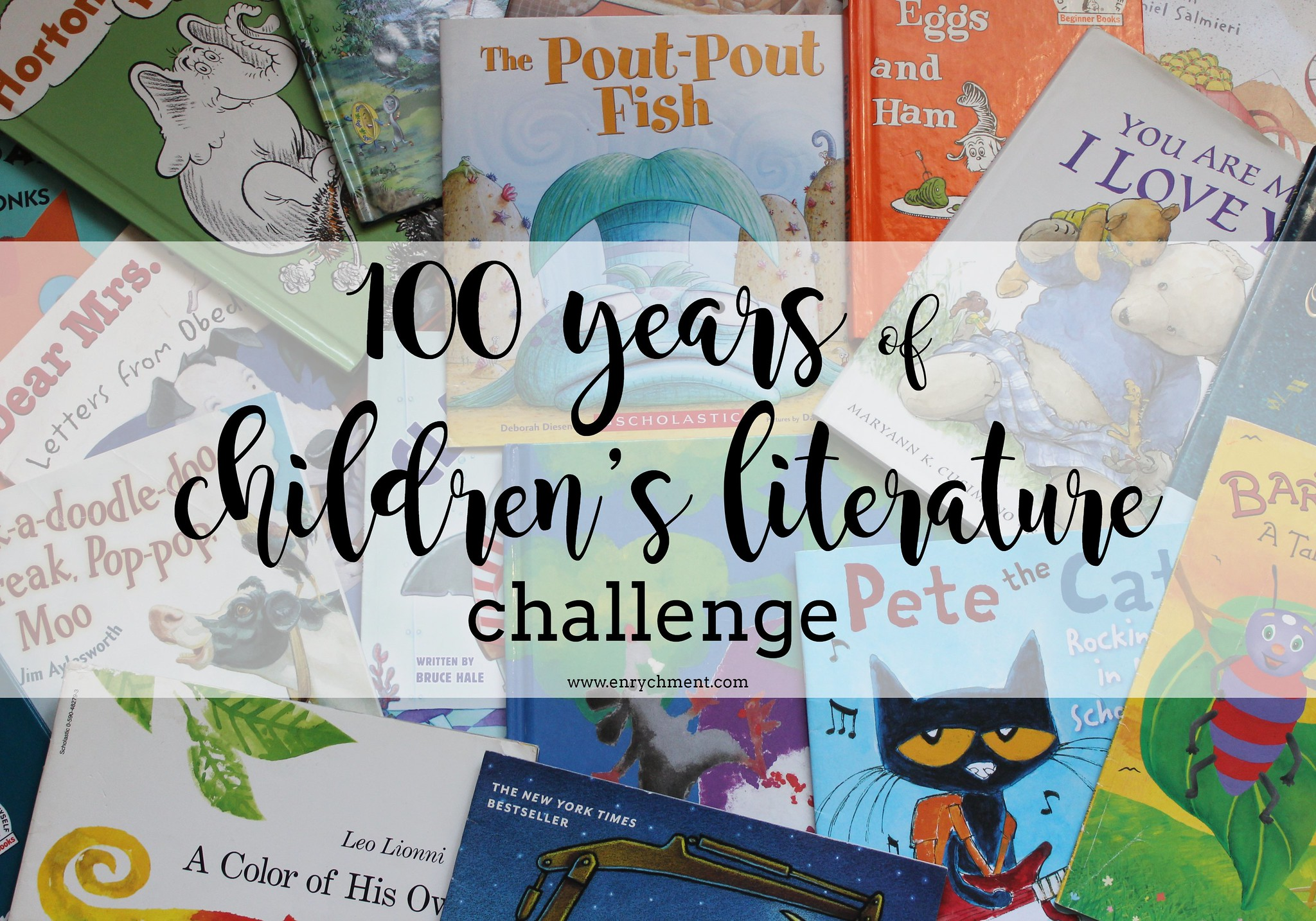 100 of Childrens Literature Challenge! Read one book from each year of publication starting with 1919 | www.enrychment.com
