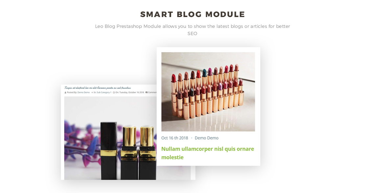 smart blog module - Leo Lipart - Cosmetics and Beauty Prestashop Theme