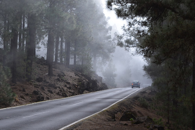 Driving into Bruma, Tenerife