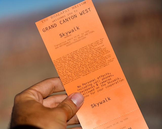 Entradas para el skywalk del Gran Cañón del Colorado
